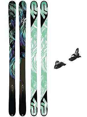 K2 Freeski Set Ski Empress 169 + Free Ten 85mm blk/wht 2018 Freeski-Set Damen Fr