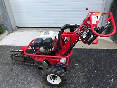 2016 Barreto Trencher 712-Mt  Hydraulic Trencher. Only 106 Hours. Excellent