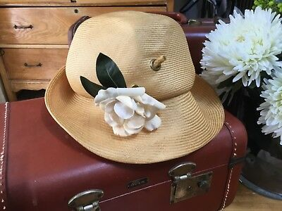 Vintage Duby NY Straw Hat vintage wedding decorations flower girl