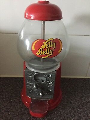 Vintage Retro Red Metal Jelly Belly Sweet Dispenser