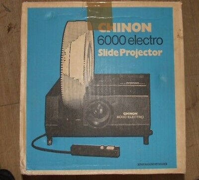 CHINON 6000 Electro Slide Projector Vintage BOXED
