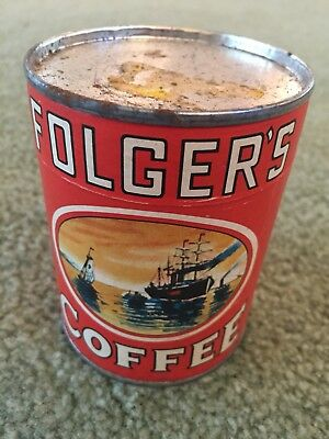 1950s Folgers Coffee Puzzle In a Can Vintage Antique Unopened