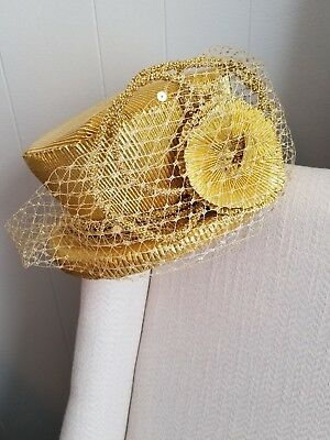 VTG NOS Church Derby Gold Hat VINTAGE