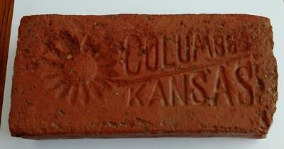 Rare Antique Street Paver Brick Columbus Kansas Sunflower Design