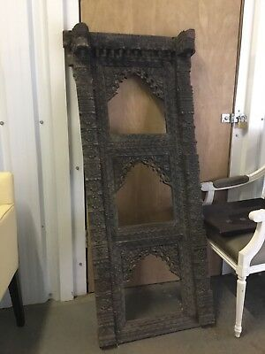 Antique Indian carved wooden decorative door/window frame
