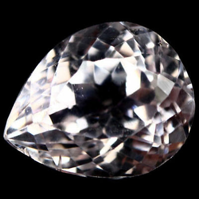 Kunzite Natural 6.24 Ct. Pear Cut Afganistan Vs Unheated 12.0 X 9.8 X 8.0 Mm