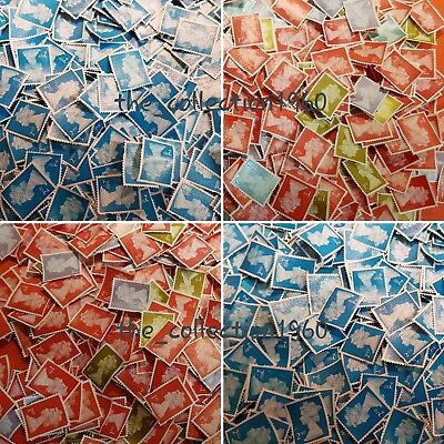50, 100, 200, 500, 1000, 5000 1St & 2Nd Class Unfranked Stamps, Off Paper No Gum