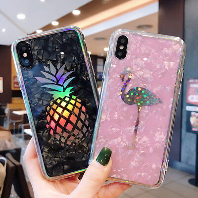 Glitter Pineapple Fruit Pattern Soft Phone Case Cover For iPhone 6 6s 7 8 Plus X