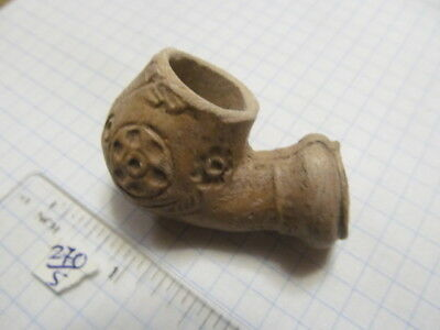 Ancient Ceramic pipe for tobacco smoking Ukrainian Cossack 17-18 AD № 270/5.