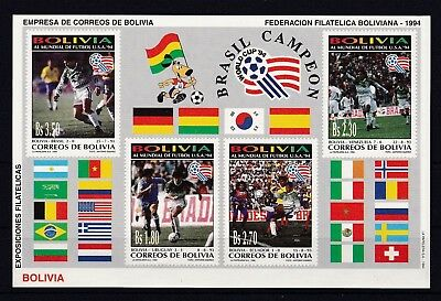 T57858 Bolivien Bolivia Block 210 postfr./mnh Fussball soccer  without Number