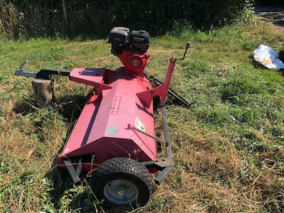 MDL150 'tow behind' flail mower, 4 foot cut, 420cc petrol engine