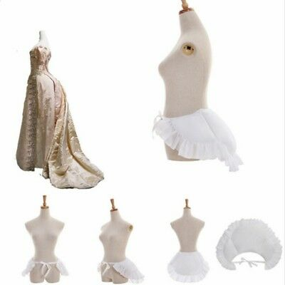 White Victorian Bustle Pad Rococo Dress Petticoat Medieval Pannier Underskirt