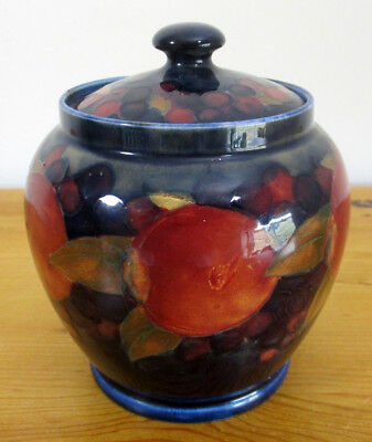 "William Moorcroft Vintage Berry and Pomegranate Pattern 11cm/4.25"" Jar and Cover"