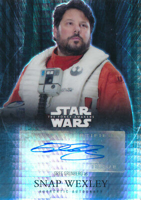 Star Wars The Force Awakens Autograph Auto Greg Grunberg Snap Wexley 14/50