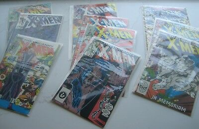 Marvel Comics The Uncanny X-Men Issues 196-228, 200 Double Sized / NM LOT OF 10