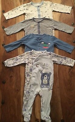 Asda/ TU Sainsburys Baby Boy Bundle vests/baby grow/all in one size6-9 months