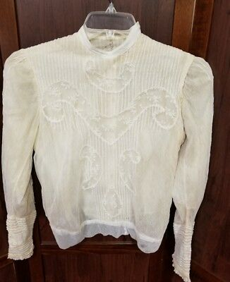 Authentic heirloom antique Victorian style ladies blouse over a 100 years old