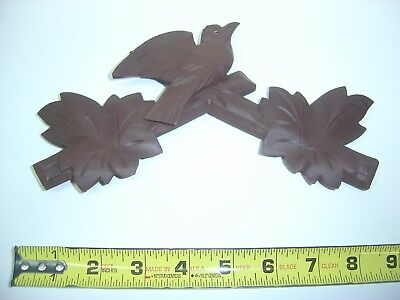 """Hand Carved Black Forest Cuckoo Clock Crown Finial 5"""" x 8.5"""" from an 8day Schatz"""