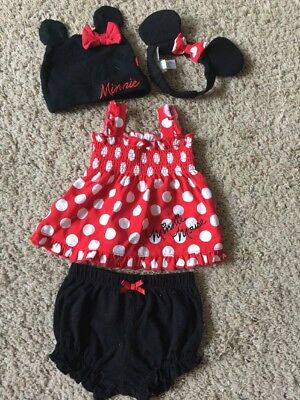 3e6fe77984f DISNEY BABY MINNIE Infant Girl's Disney size 0-3M Minnie Mouse 3 ...