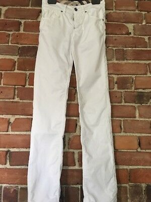 Boys Burberry white trousers / Jeans  age 14 Yrs (fit 12-13) summer holiday