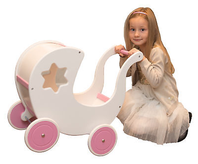A gift for the first birthday a toy made of natural wood a toy trolley For girl