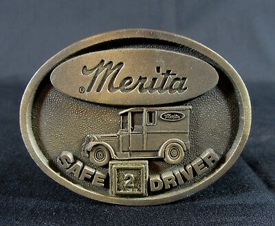 Merita Bread Bakery 2 Year Safe Driver Belt Buckle