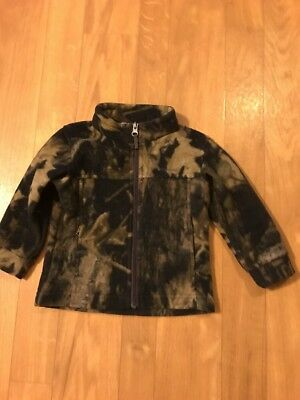 Columbia Full Zip Fleece Camo Jacket Toddler Boy's Size 2T