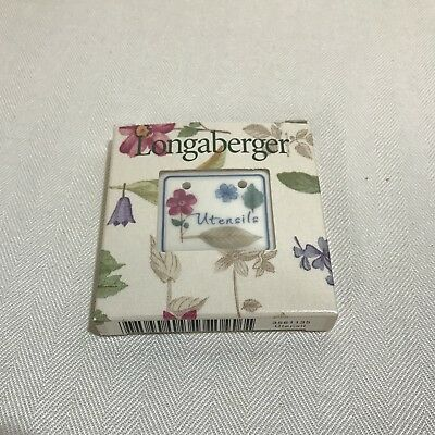 Longaberger Pottery Botanical Fields Tie-On Cornflower Butternut Flowers Baskets