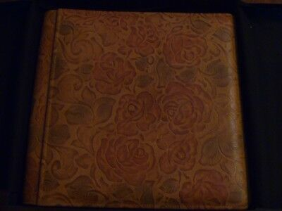 Raika Leather Floral Embossed New Photo Album with Box