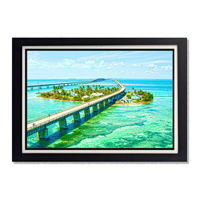 Seven Mile Bridge Florida Keys Blue Water Key West Glossy Poster 24 x 36in 11x17