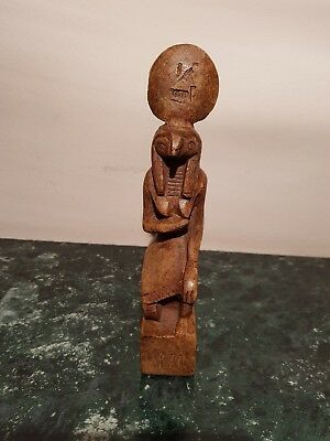 Rare Antique Ancient Egyptian Statue God Horus Falcin Head protectin 1650-1580BC