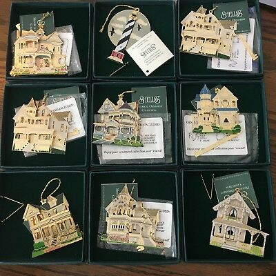 "Shelias Historical Ornament ""Gone With the Wind"" Houses ""You Pick"" Original Box"