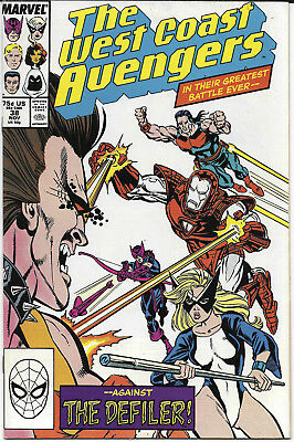 1988 The West Coast Avengers #38 NM Marvel Comics FREE BAG/BOARD