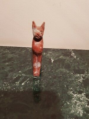 Rare Antique Ancient Egyptian Statue God Bastet protection joy1870-1780BC