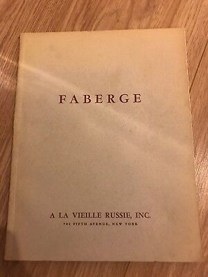 A La Vieille Russie 1961 Catalogue Rare Exhibition Imperial Russian Faberge