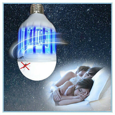 E27 15W 220V LED Zapper Bulb Mosquito Insects Killer Lamp Pest Bug Light  WRAB