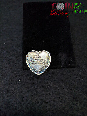 inv#2404 1/4TROY OZ FINE (.999) SILVER HEART FOR SOMEONE SPECIAL
