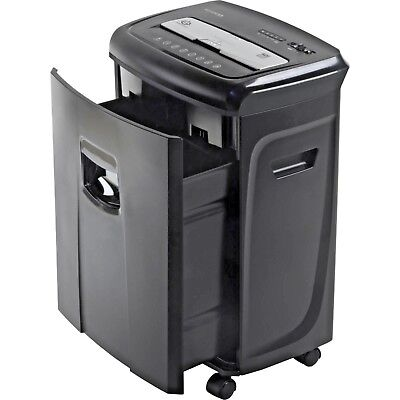 Aurora 12-Sheet Crosscut Paper and Credit Card Shredder with Pullout Basket