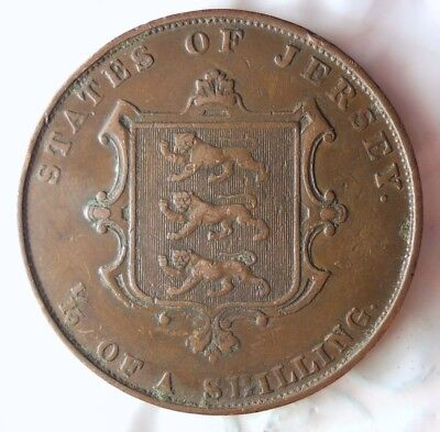 1861 JERSEY 1/13 SHILLING - High Grade - Very Low Mintage Coin - Lot #716