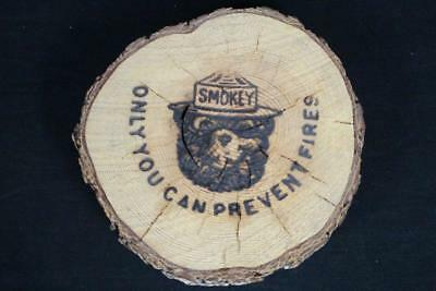 Vintage Us Forest Service Smokey Bear Burned Wood Sign