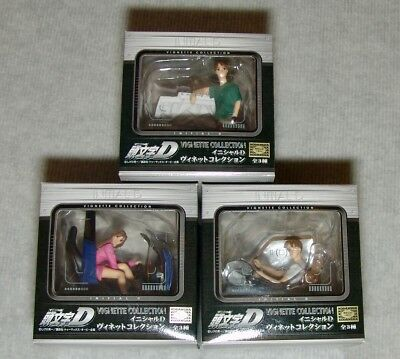 New Sealed Sega Initial D Vignette Collection Complete Set Of 3   /  Usa Seller