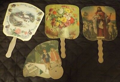 VINTAGE ADVERTISING FANS:  Weaner's Dairy Gettysburg Fan, Hueys, Leichtman's & W