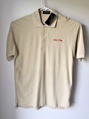 Men's Golf Shirt Polo Captain Morgan Rum Relaxed Fit Size Medium 100% Cotton New
