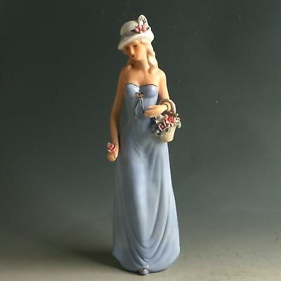 Chinese Porcelain Handmade Exquisite Beauty Statue MY0566