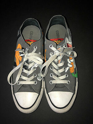 Converse All Stars Looney Tunes Bugs Bunny Daffy Duck Shoes Grey Pre-owned