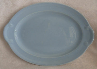 "LuRay TS&T -  Oval Serving Platter  -  11 3/4""  X  8 1/2"" - WINDSOR BLUE"