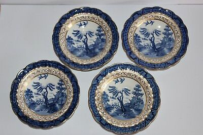 Real Old Willow saucers x 4