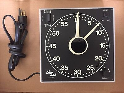 GraLab Model 300 Photography Darkroom Timer 60 Min Glow in the Dark Dial Working