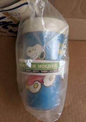 SNOOPY Insulated Beverage Cup & Holder, Original Packaging