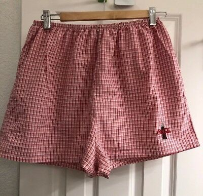 Coca-Cola Red And White Plaid Cotton PJs Shorts Size XL Pre-owned